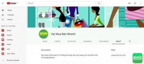 Tin đăng mua bán VIP MuaBanNhanh trên kênh Youtube