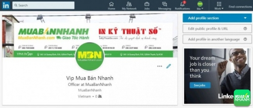 Tin đăng mua bán VIP MuaBanNhanh trên Linkedin